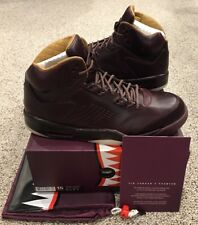Nike Air Jordan Retro 5 V Premium Wine Bordeaux Sail Gold Size 15 New DS