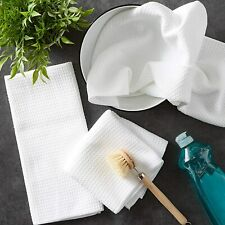 White Tea Towel Egyptian Cotton Absorbent Kitchen Dish Cloth Terry Hand Towels