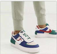 NIKE TRAINERS. SIZE 5 WHITE PINK BLUE. AIR FORCE 1. WORN ONCE. AUTHENTIC.
