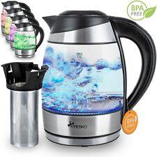 1,8L Edelstahl Glas Wasserkocher 2200W LED Glaswasserkocher A327