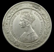 More details for 1851 great exhibition 51mm white metal medal - by allen & moore