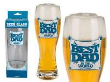 BEST DAD IN THE WORLD LARGE DRINKING PINT GLASS 750ML