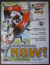 "2001 Revolution NHL Hockey Trading Cards 8x11"" Advertising Sheet - John LeClair"