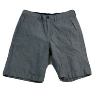 1901 Shorts Mens Size 30 S Small Flat Front Cotton Spandex Stretch Blue Slim Fit
