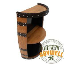 WINE-DRINK RACK | Side Board | Handcrafted Solid Whiskey Oak Barrel Furniture