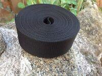 Black Textured Weave Webbing 50mm 2 inch wide x 10 meters length