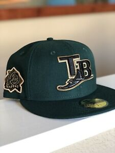 TOPPERZSTORE Exclusive New Era 59FIFTY Tampa Bay Rays Size 7 5/8