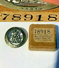 More details for genuine ww1 for king & empire services rendered silver pin badge orig gaunt box
