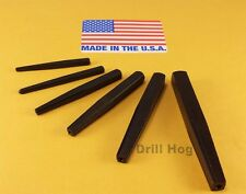 Drill Hog USA Square Easy Out Set Round Screw Extractor Lifetime Warranty 6 Pc