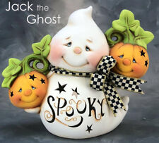 Ceramic Bisque Ready to Paint Jack the Ghost Lights Up~electric included