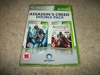 Assassin's Creed: Double Pack (Microsoft Xbox 360, 2012) NEW & SEALED