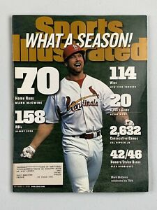 Vintage Sports Illustrated - October 8, 1998 - Mark McGwire Cover - 70 Home Runs