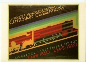 Drumahoe Postcard LMS Liverpool & Manchester Centenary DGR226 repro poster