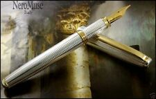 SILVER Craftmen Made Fountain Pen Waterman Cartridges Nobel Material