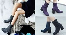 Unbranded Block Heel Solid Boots for Women
