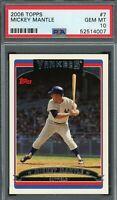 Mickey Mantle New York Yankees 2006 Topps Baseball Card #7  PSA 10 GEM MINT