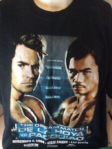 Oscar De la Hoya vs Pacquiao T Shirt Size 2XL 2008 MGM Las Vegas Boxing Match