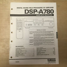 Original Yamaha Service Manual for the DSP-A780 Sound Field Processing Amplifier