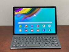 Samsung Galaxy Tab S5e 64GB, Wi-Fi, 10.5in - Black with Keyboard Case EJ-FT720