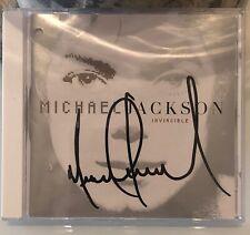 Michael Jackson Invincible Signed Album Virgin Megastore