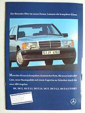Prospekt Mercedes 190 bis 190 D 2.5 Turbo, 2.1989, 40 Seiten