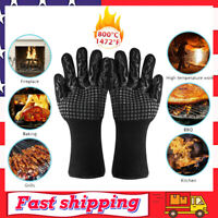 1472°F Extreme Heat Resistant Cooking Oven Gloves BBQ Hot Grilling Gloves US