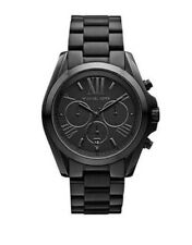 Michael Kors Men's Bradshaw Chronograph 100m Black Stainless Steel Watch MK5550