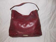 Cole Haan Leather Burgundy Red Handbag Large Purse Shoulder Bag good shape!