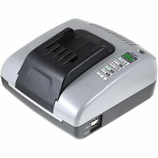Powery Ladegerät mit USB für Dewalt Akkutyp DW0241 20V-36V   Schwarz