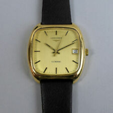 VINTAGE LONGINES ULTRONIC DATE ADJUST 9 CT GOLD WRISTWATCH IN G.W.O. 1970's