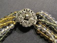 sehr alte Halskette - schönes Stück - Glasperlen mit silbernem Verschluss