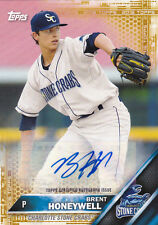 BRETT HONEYWELL 2016 TOPPS PRO DEBUT CERTIFIED AUTOGRAPH SIGNED CARD 20/50 RAYS