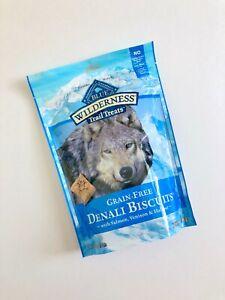 BLUE Wilderness Dog Treats Grain Free Denali Biscuits Salmon Venison Halibut 8oz