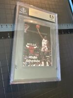 Michael Jordan BGS 8.5 Rookie 1986 Pocket Schedule LAST DANCE Inflation Hedge NR