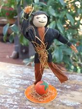 New ListingAntique Halloween Crepe Paper Scarecrow