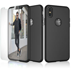 For iPhone 11 Pro Max Xs Max XR 360° Full Protective Hard Case+Screen Protector