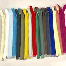 """10"""" - 26"""" Open Ended Nylon Zips No5 - 9 Sizes & 27 Colours For Sewing & Crafts"""