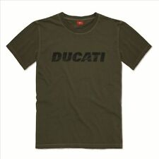 Ducati T-Shirt Vintage Green Olive Logo Shirt New Original