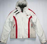 Quiksilver Roxy X Series Quiktech Hooded Ski Jacket - UK Size 16 - White Womens