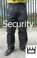 WWK Mens SECURITY SIA ACTION WORK COMBAT TROUSER ZIP POCKETS