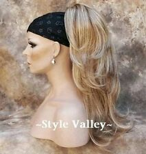Strawberry Blonde Mix Ponytail Extension Hair piece Long Wavy Clip in Hairpiece