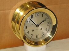 "CHELSEA VINTAGE SHIPS BELL CLOCK~6""DIAL~HINGED BEZEL~1952~KOREAN WAR~RESTORED"