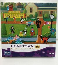 """NEW HERONIM ART Hometown Collection 1000 PIECE Jigsaw Puzzle """"SCARECROW FESTIVAL"""