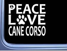 "Cane Corso Peace Love L634 Dog Sticker 6"" decal"