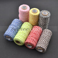 100m Cotton DIY Craft Thread Spool Reels Sewing Needlework Wrapping Packaging