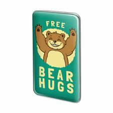 7d630f78160 Free Bear Hugs Funny Humor Metal Rectangle Lapel Hat Pin Tie Tack Pinback