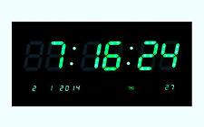 LED  wanduhr Digitaluhr digital Wohnzimmer Küchenuhr beleuchtung 2008 in Grün
