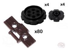 LEGO Technic - 80 Treads + 8 Sprockets - Brown - New - (Track,Gear,EV3,NXT)