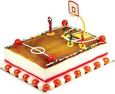 "BASKETBALL ""SWISH"" CAKE DECORATING KIT Topper Decoration Party Supplies Set"