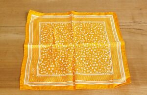 Liberty Of London Orange Floral Silk Pocket Square  Made In England New